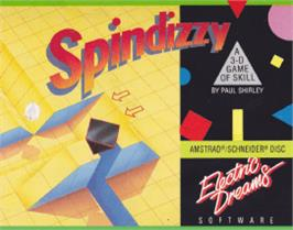 Box cover for Spindizzy on the Amstrad CPC.