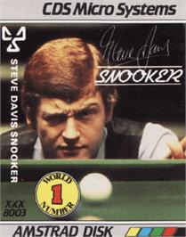 Box cover for Steve Davis Snooker on the Amstrad CPC.
