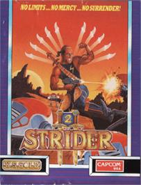 Box cover for Strider 2 on the Amstrad CPC.