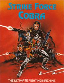 Box cover for Strike Force Cobra on the Amstrad CPC.