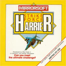 Box cover for Strike Force Harrier on the Amstrad CPC.