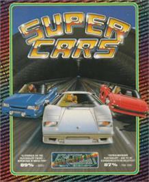 Box cover for Super Cars on the Amstrad CPC.