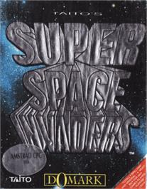 Box cover for Super Space Invaders on the Amstrad CPC.