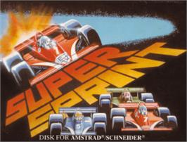 Box cover for Super Sprint on the Amstrad CPC.