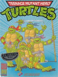 Box cover for Teenage Mutant Ninja Turtles on the Amstrad CPC.