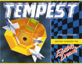 Box cover for Tempest on the Amstrad CPC.