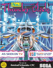 Box cover for Thunder Blade on the Amstrad CPC.