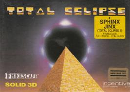 Box cover for Total Eclipse on the Amstrad CPC.