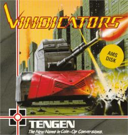 Box cover for Vindicators on the Amstrad CPC.