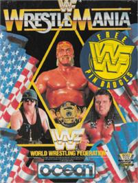 Box cover for WWF Wrestlemania on the Amstrad CPC.