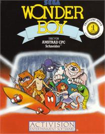 Box cover for Wonder Boy on the Amstrad CPC.