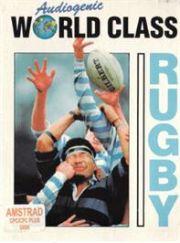 Box cover for World Class Rugby on the Amstrad CPC.