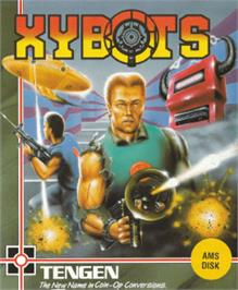 Box cover for Xybots on the Amstrad CPC.