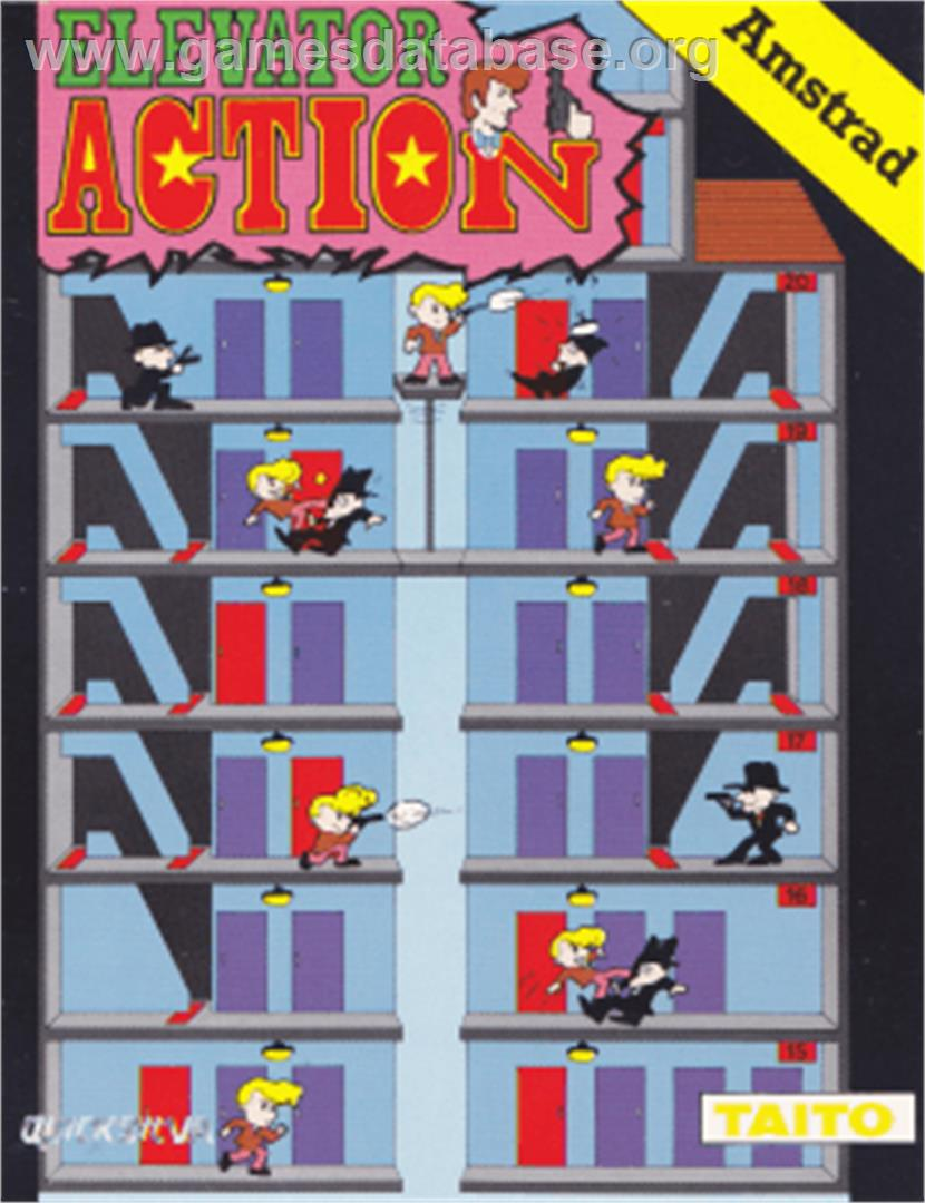 Elevator Action - Amstrad CPC - Artwork - Box