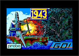 In game image of 1943: The Battle of Midway on the Amstrad CPC.