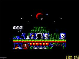 In game image of Addams Family, The on the Amstrad CPC.