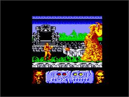 In game image of Altered Beast on the Amstrad CPC.