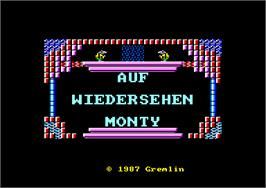 In game image of Auf Wiedersehen Monty on the Amstrad CPC.