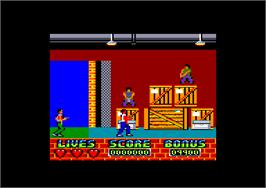 In game image of Beverly Hills Cop on the Amstrad CPC.