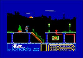 In game image of Billy la Banlieue on the Amstrad CPC.