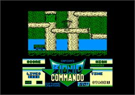In game image of Bionic Commando on the Amstrad CPC.
