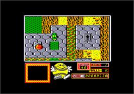 In game image of Bounder on the Amstrad CPC.
