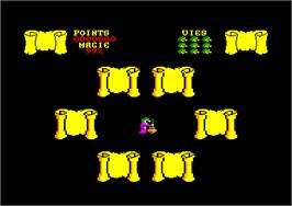 In game image of Cauldron on the Amstrad CPC.
