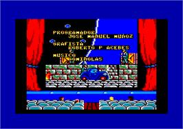 In game image of Chicago 30's on the Amstrad CPC.