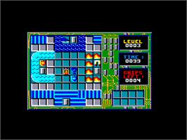 In game image of Chip's Challenge on the Amstrad CPC.
