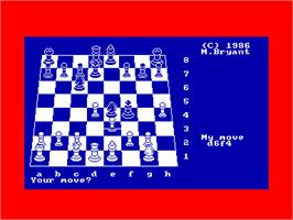In game image of Colossus 4 Chess on the Amstrad CPC.