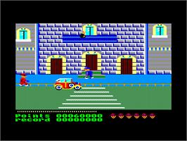 In game image of Cosa Nostra on the Amstrad CPC.