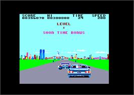 In game image of Crazy Cars on the Amstrad CPC.