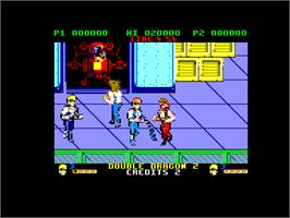 In game image of Double Dragon II - The Revenge on the Amstrad CPC.