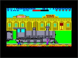 In game image of Express Raider on the Amstrad CPC.