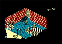 In game image of Fairlight: A Prelude on the Amstrad CPC.