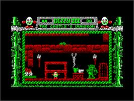 In game image of Fantasy World Dizzy on the Amstrad CPC.