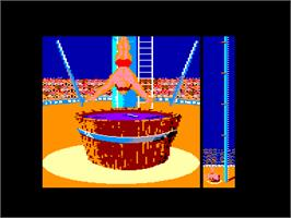 In game image of Fiendish Freddy's Big Top O' Fun on the Amstrad CPC.