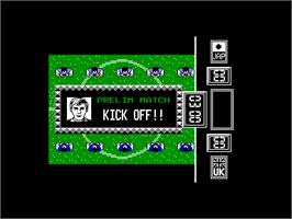 In game image of Fighting Soccer on the Amstrad CPC.