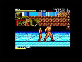 In game image of Final Fight on the Amstrad CPC.