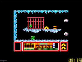 In game image of Frost Byte on the Amstrad CPC.