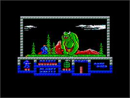 In game image of Game Over on the Amstrad CPC.