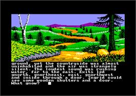 In game image of Gnome Ranger on the Amstrad CPC.