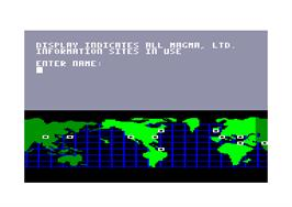 In game image of Hacker on the Amstrad CPC.