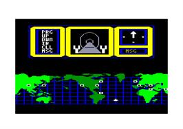 In game image of Hacker 2: The Doomsday Papers on the Amstrad CPC.