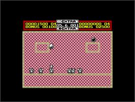 In game image of Helter Skelter on the Amstrad CPC.