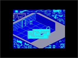 In game image of Hero Quest on the Amstrad CPC.