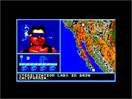 In game image of Hydra on the Amstrad CPC.
