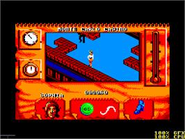 In game image of Indiana Jones and the Fate of Atlantis on the Amstrad CPC.