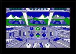 In game image of Infiltrator on the Amstrad CPC.
