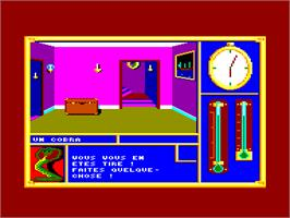In game image of Invitation on the Amstrad CPC.